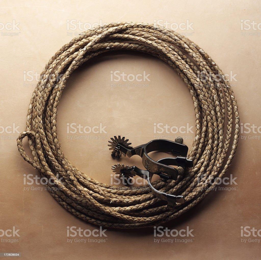 Lasso & Spurs stock photo