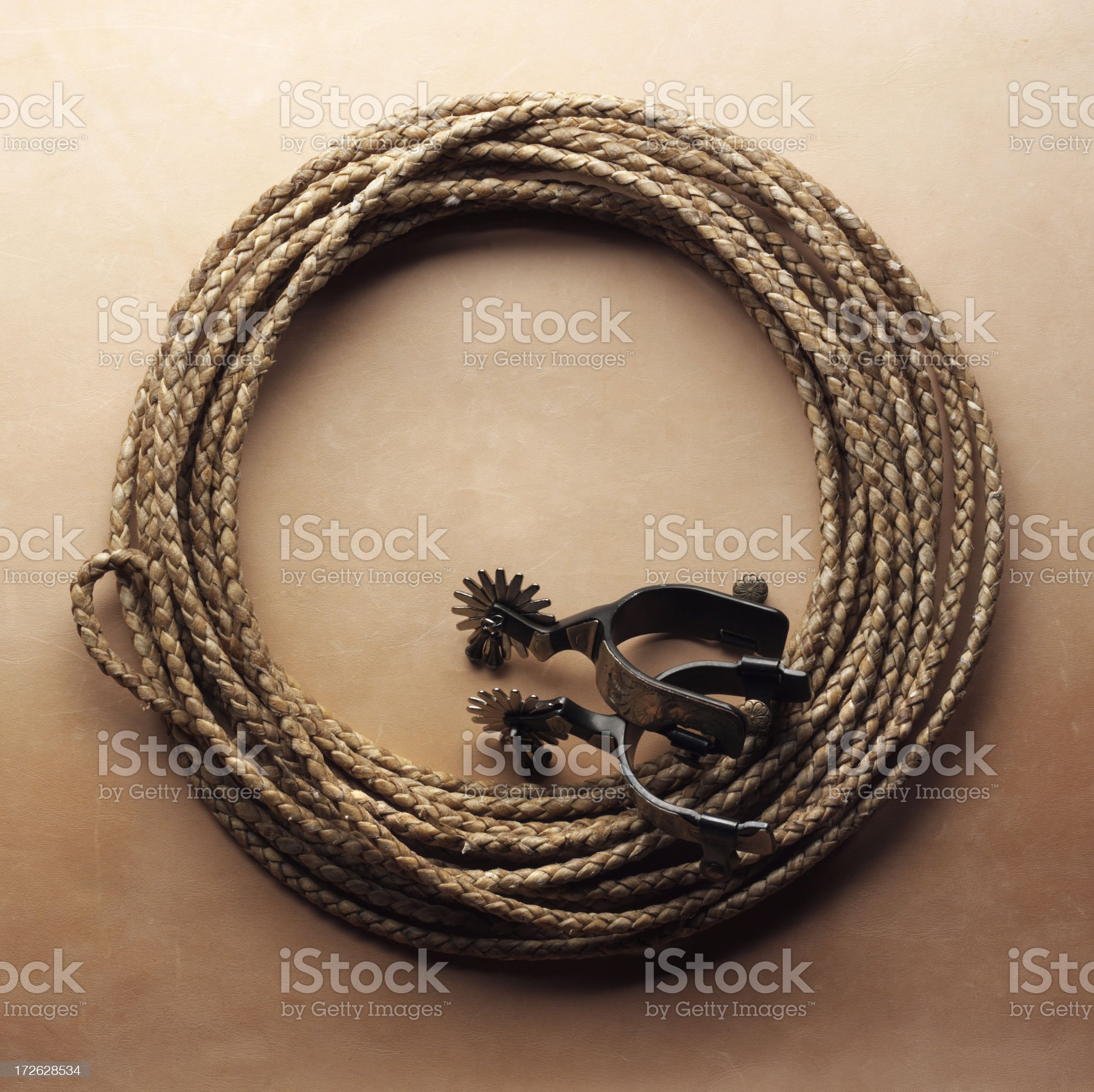 Lasso & Spurs royalty-free stock photo