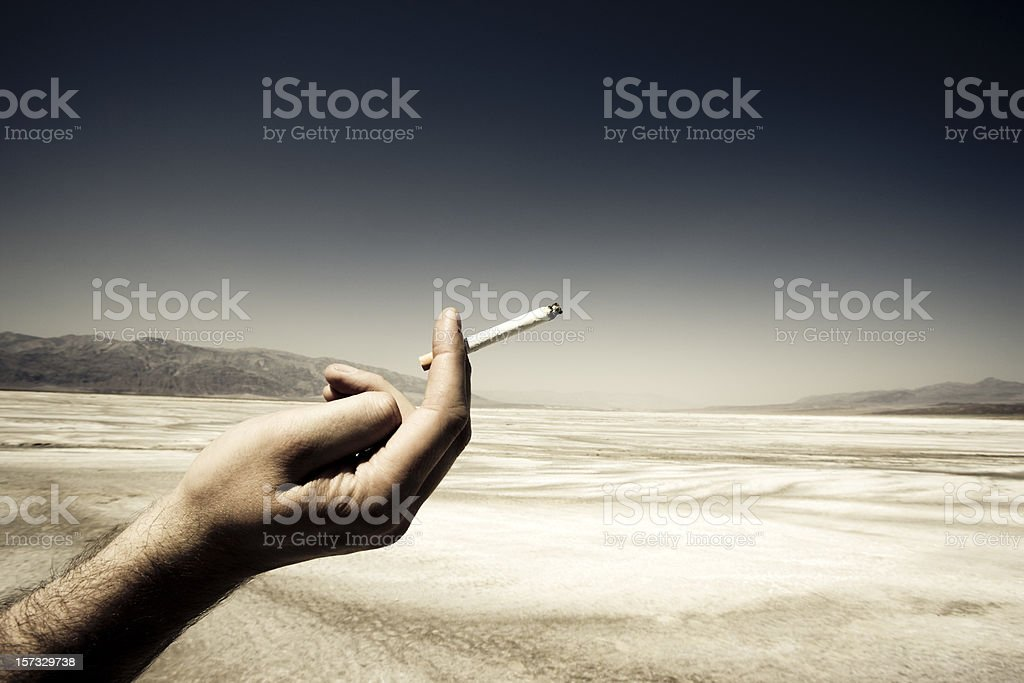 Last Cigarette, Death Valley. royalty-free stock photo
