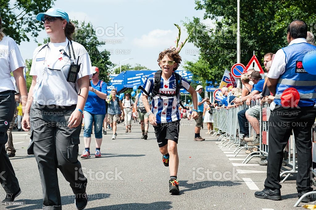 Last day of The 100th Four Day Marches stock photo