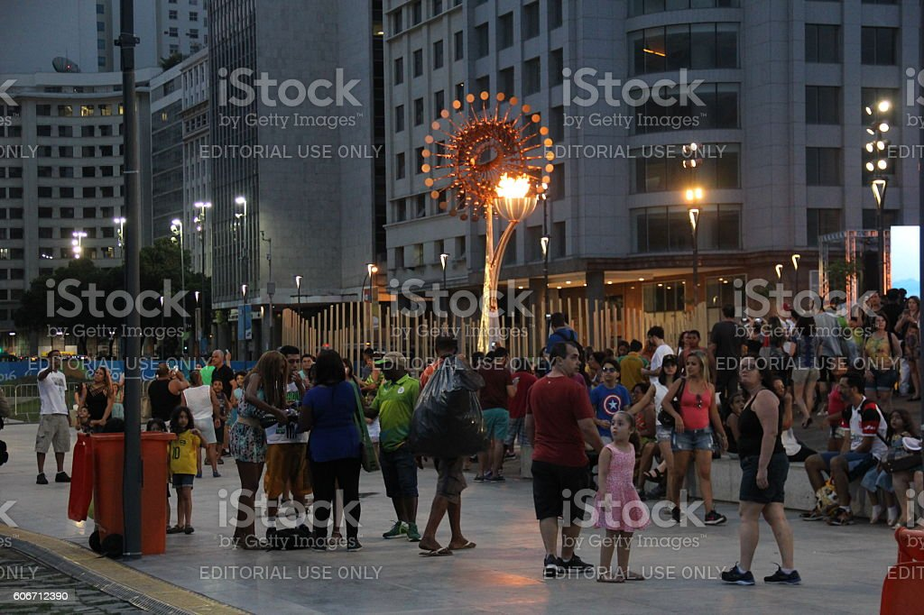 Last day of the Paralympic Games in Rio de Janeiro stock photo