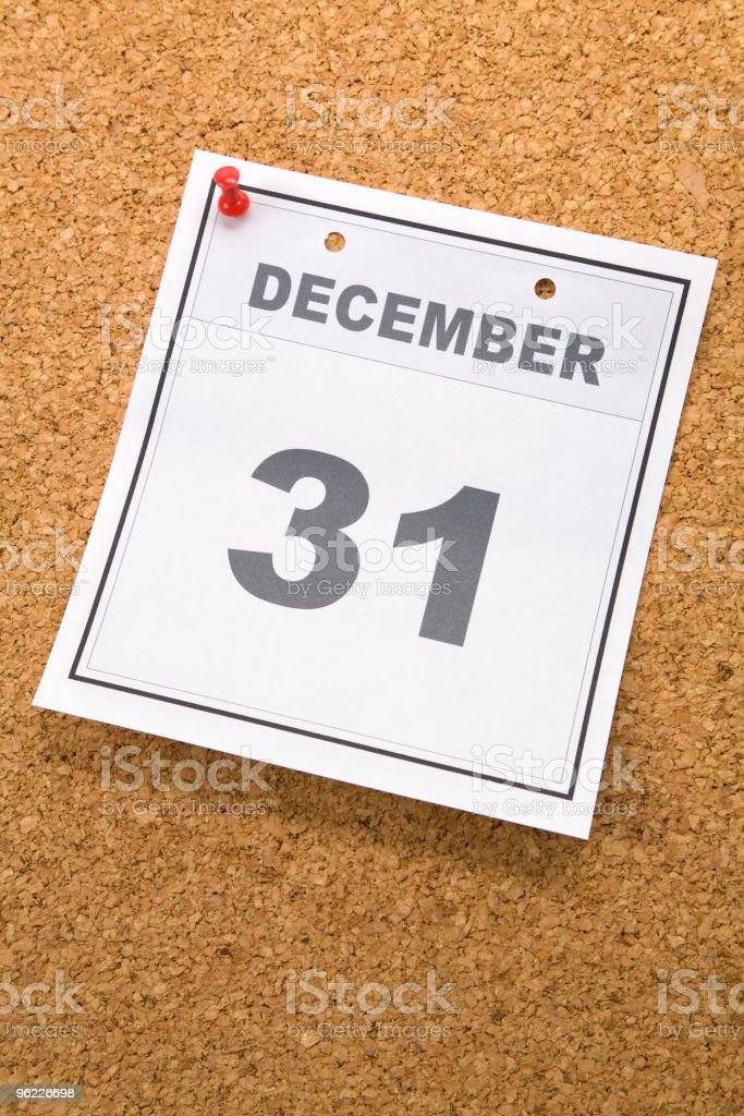 Last day of the year royalty-free stock photo