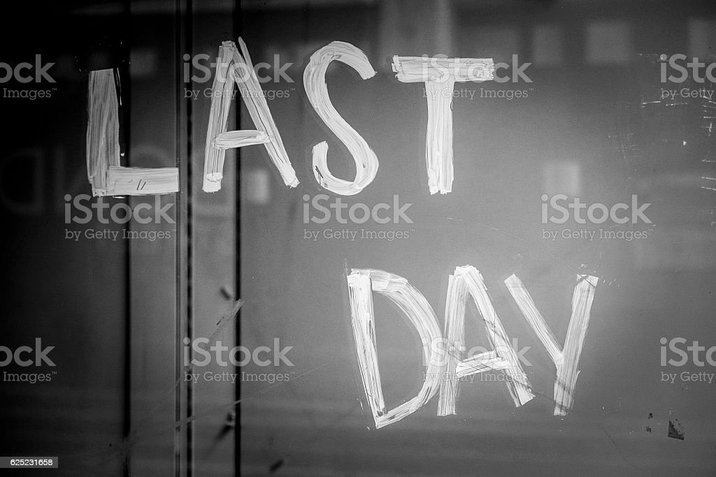 Last day sales in London stock photo