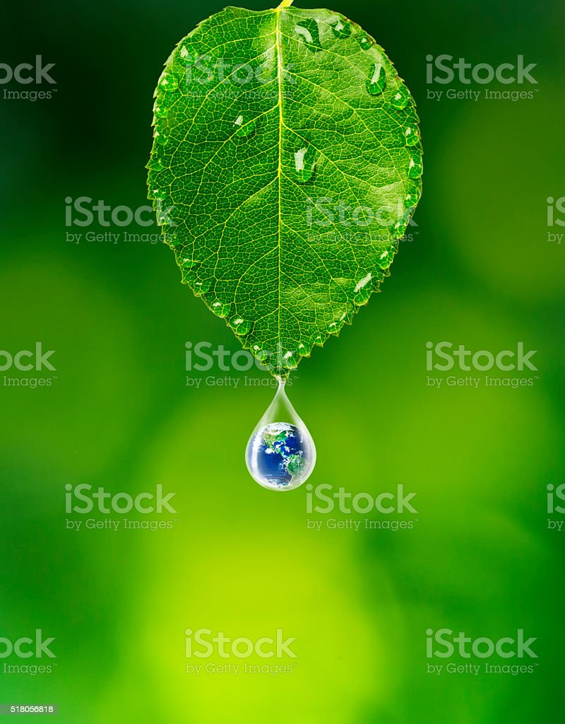 Last drop for earth stock photo