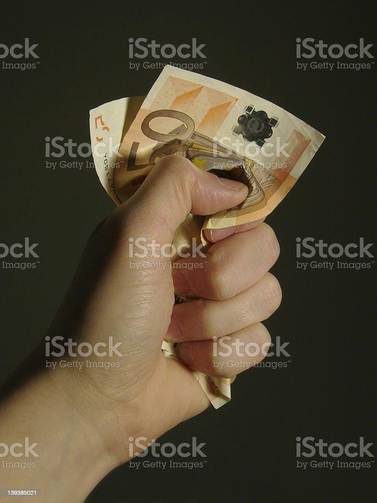 Last Euros royalty-free stock photo
