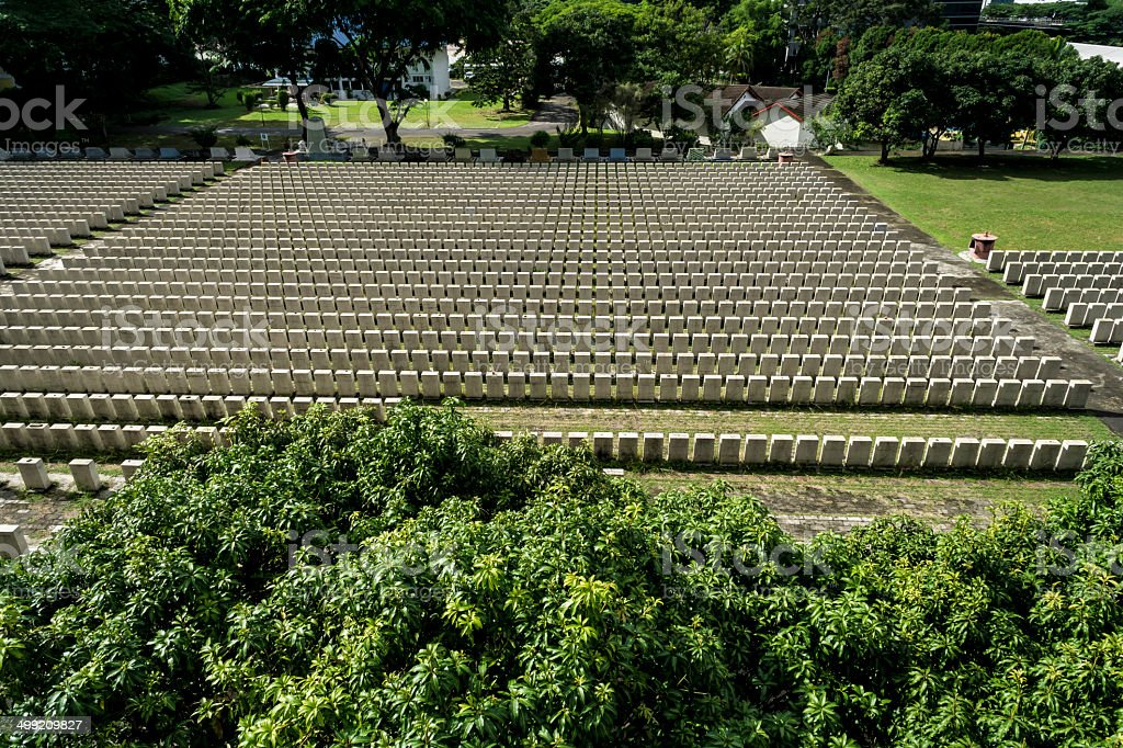 Last Hakka Cemetery in Singapore royalty-free stock photo