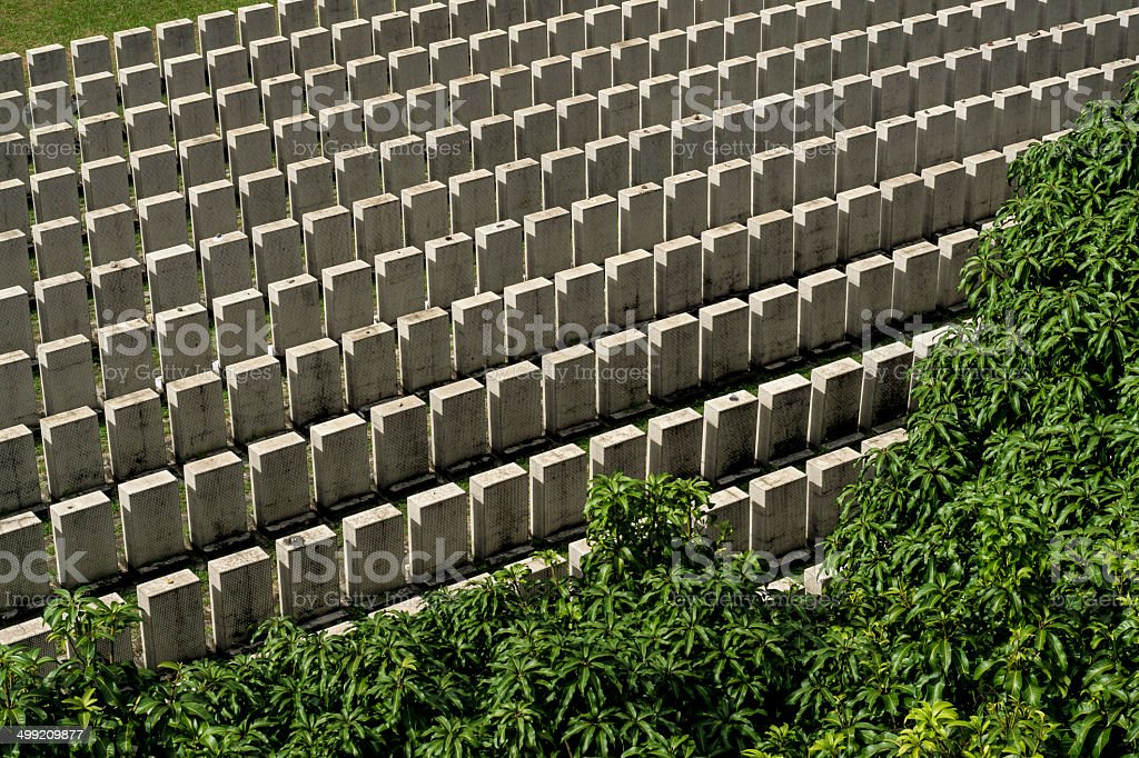 Last Hakka Cemetery in Singapore royalty-free stock photo