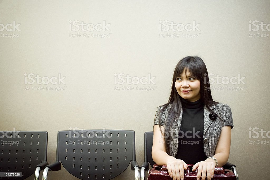 Last job seeker waiting interview royalty-free stock photo