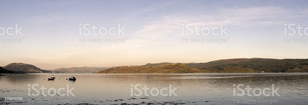 Last Light Over Loch Fyne royalty-free stock photo
