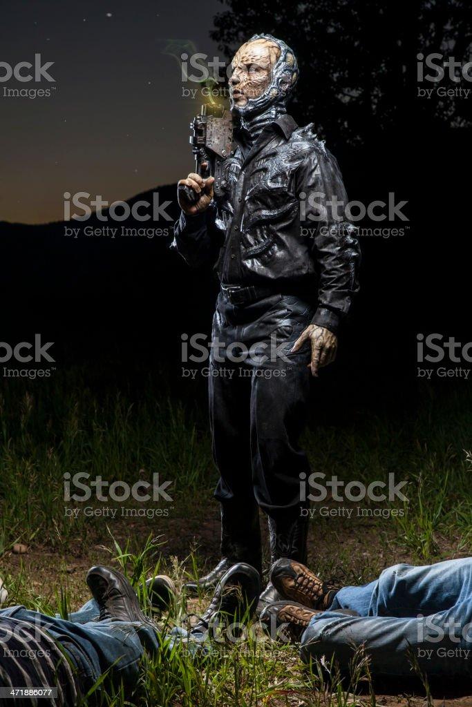 Last Man Standing stock photo