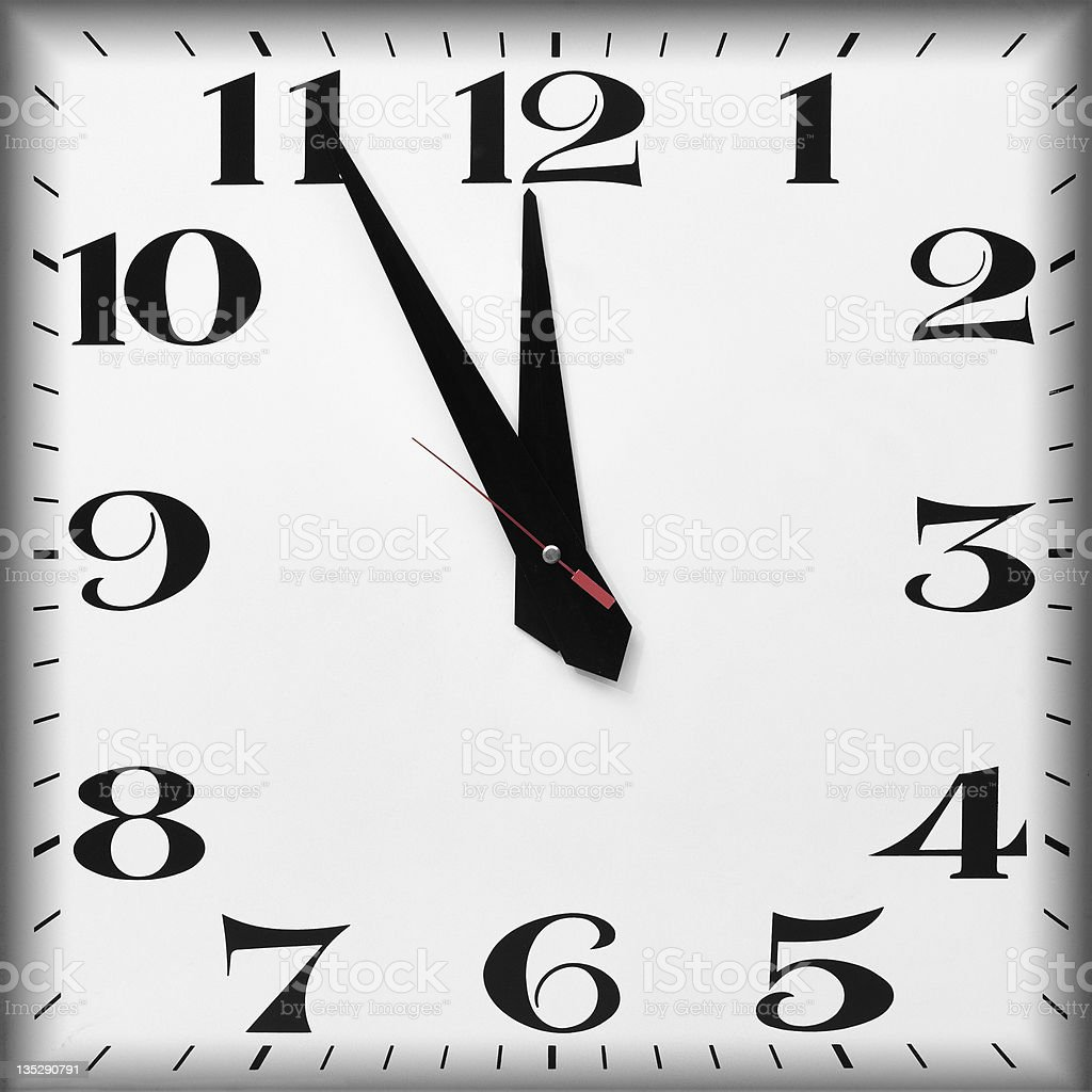 Last Minute and Countdown royalty-free stock photo