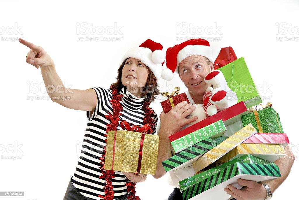 Last Minute Christmas Shopping royalty-free stock photo