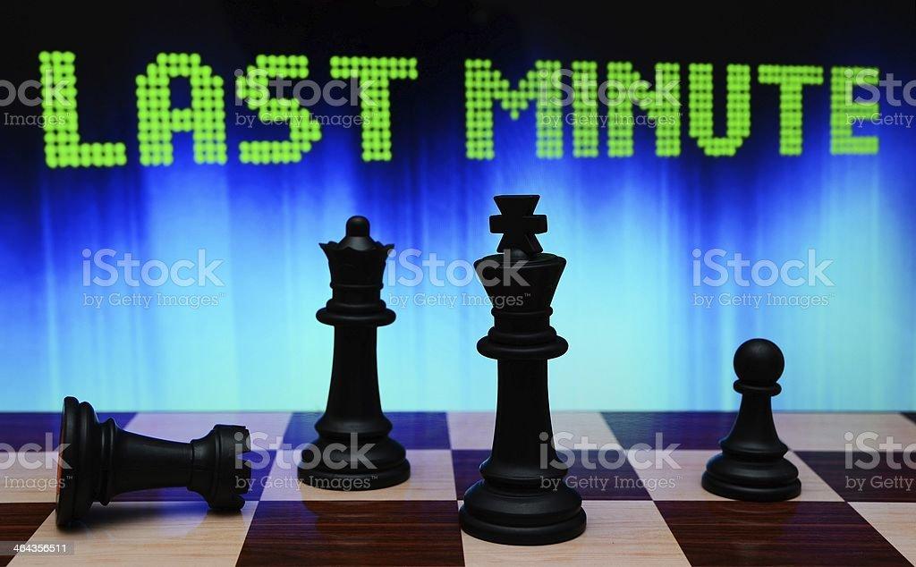 Last minute royalty-free stock photo