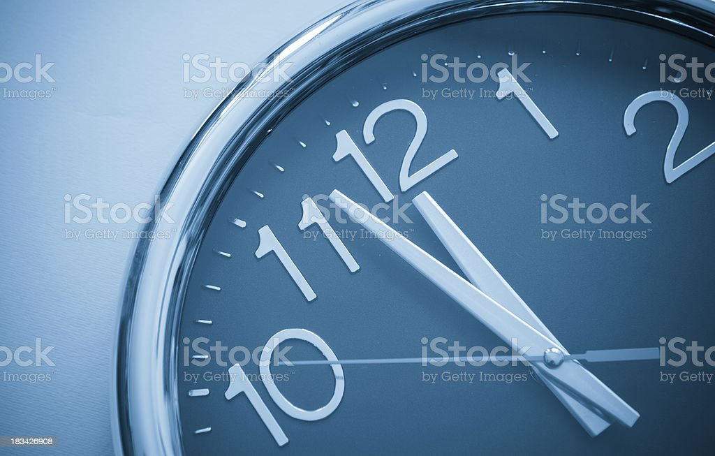 Last Minute , right on time stock photo