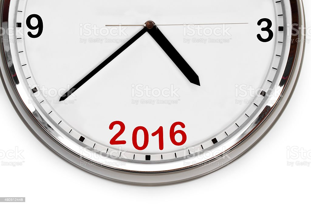 Last minutes to 2016 stock photo