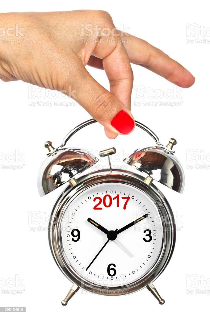 Last minutes to 2017 stock photo