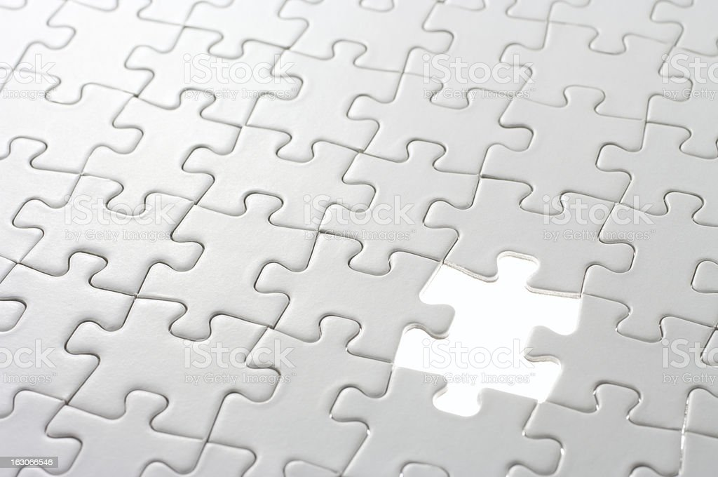 Last missing puzzle piece. royalty-free stock photo
