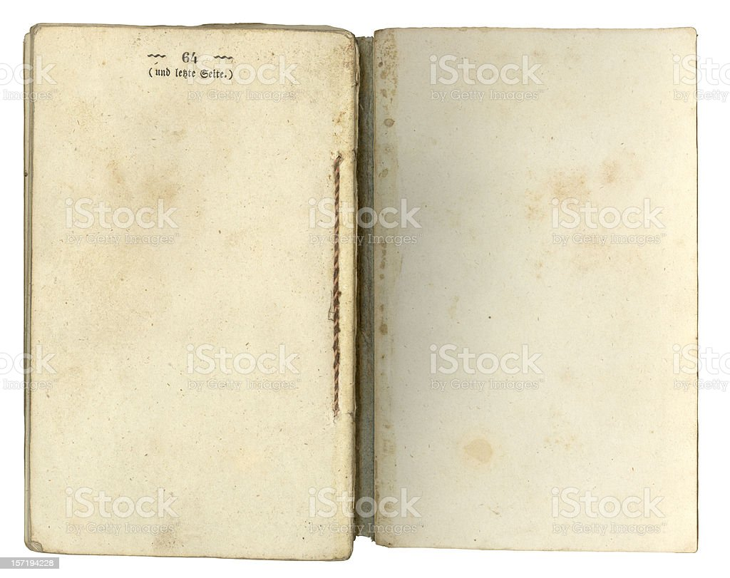 Last Page (scan) royalty-free stock photo
