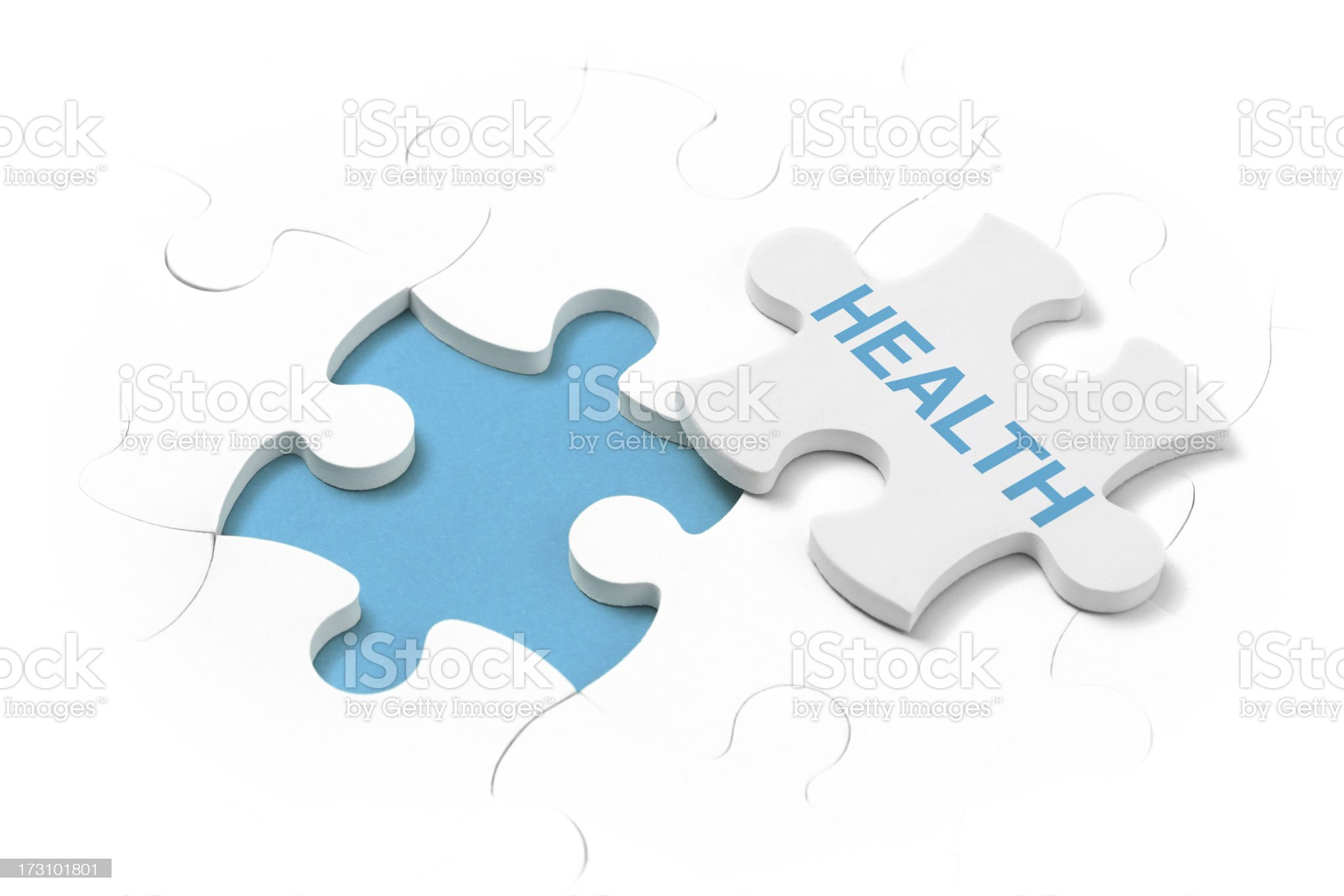 Last part of the puzzle - Health royalty-free stock photo