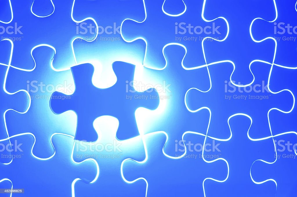 Last piece of jigsaw puzzle royalty-free stock photo