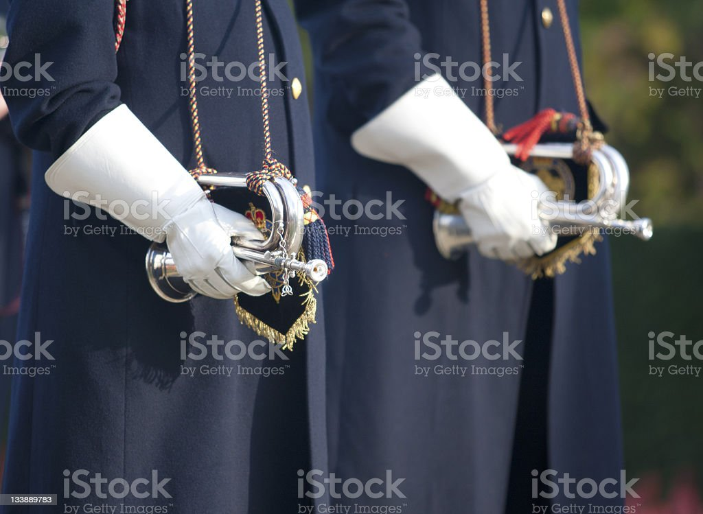 Last post buglers royalty-free stock photo