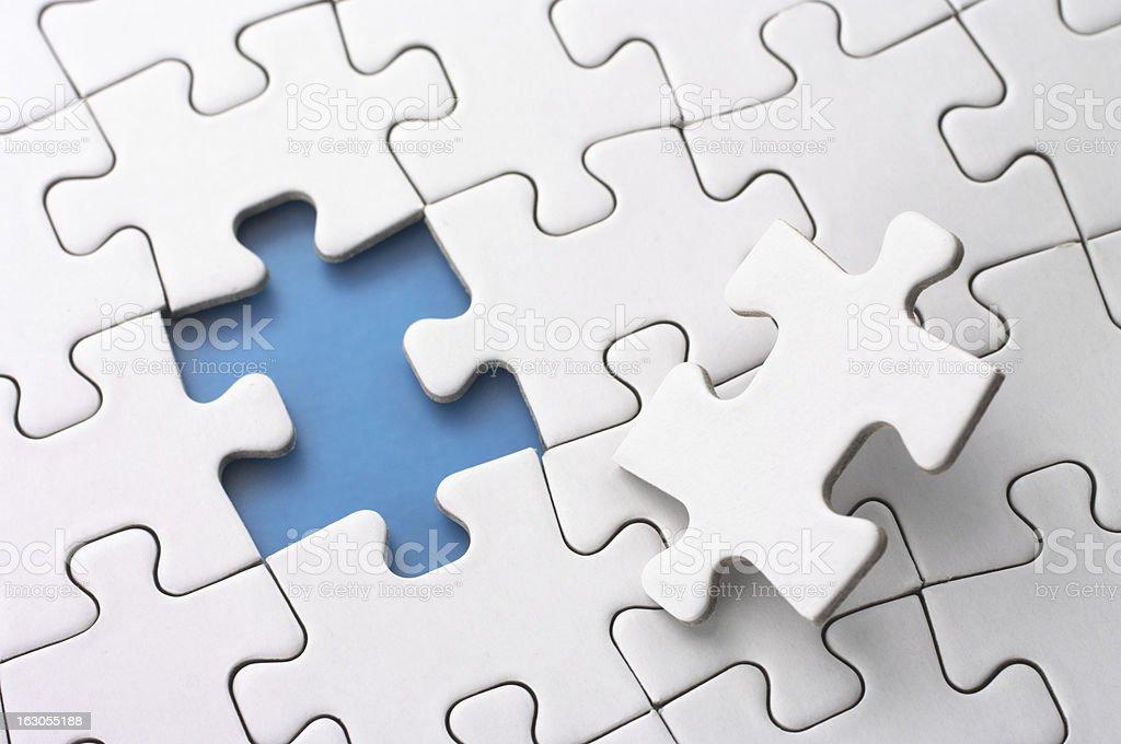 Last puzzle piece. royalty-free stock photo