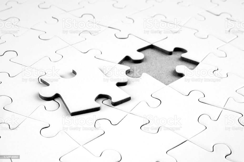 Last puzzle piece royalty-free stock photo
