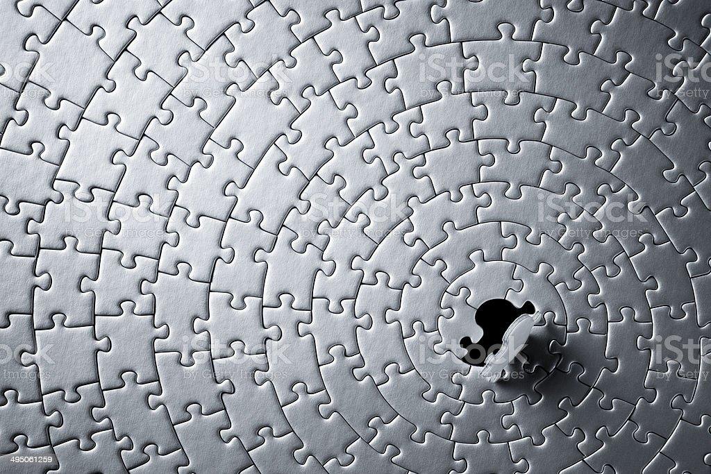 Last Puzzle Piece stock photo