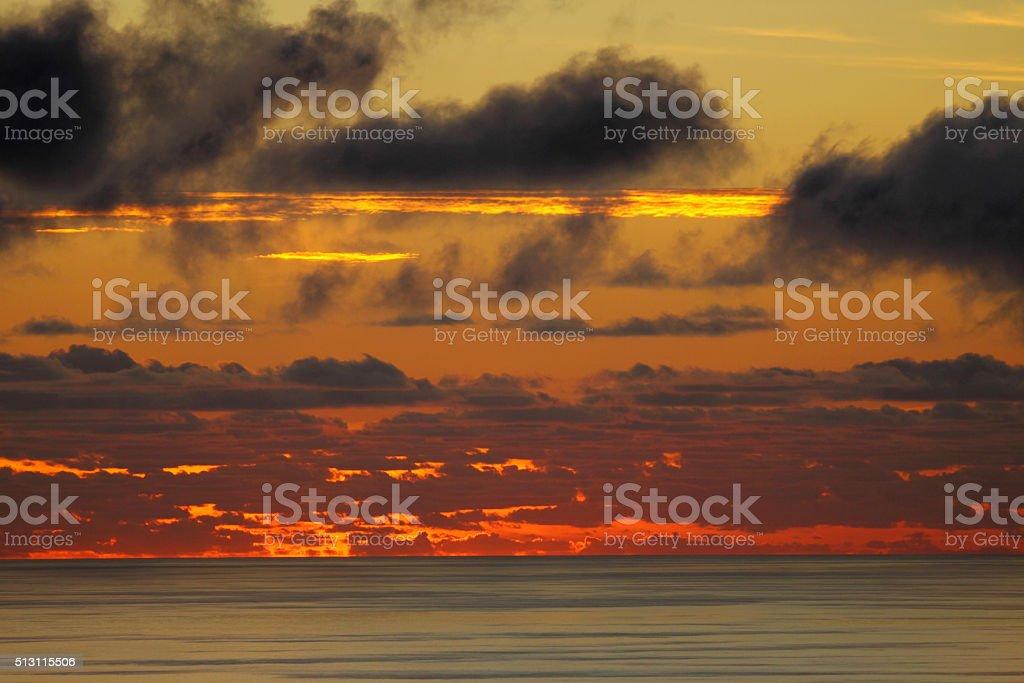Last rays of sunshine before darkens stock photo