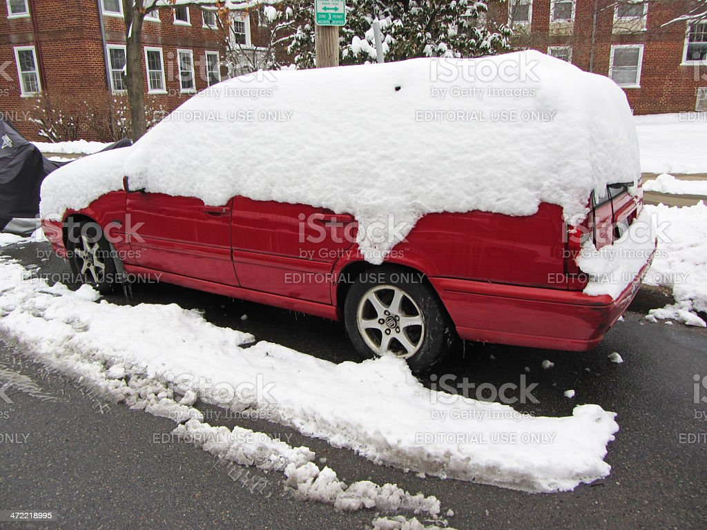 Last Snow Storm of the Winter stock photo