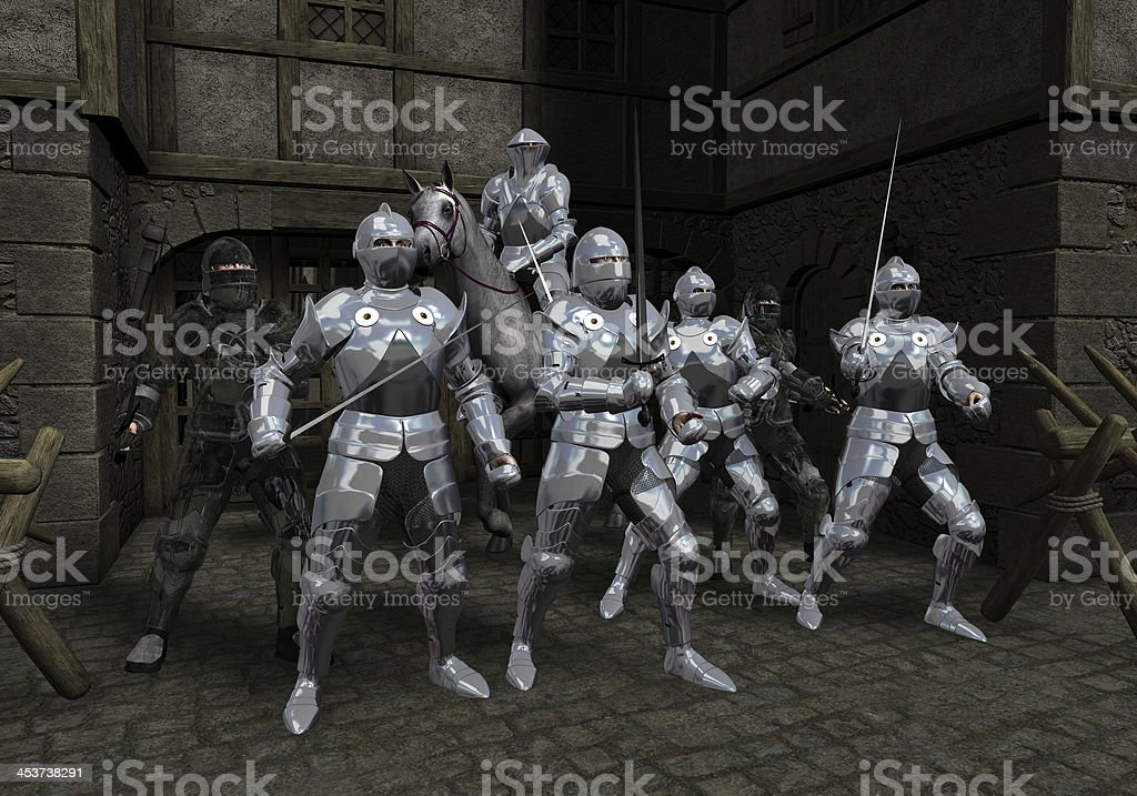 Last Stand of the Prince's Bodyguard stock photo
