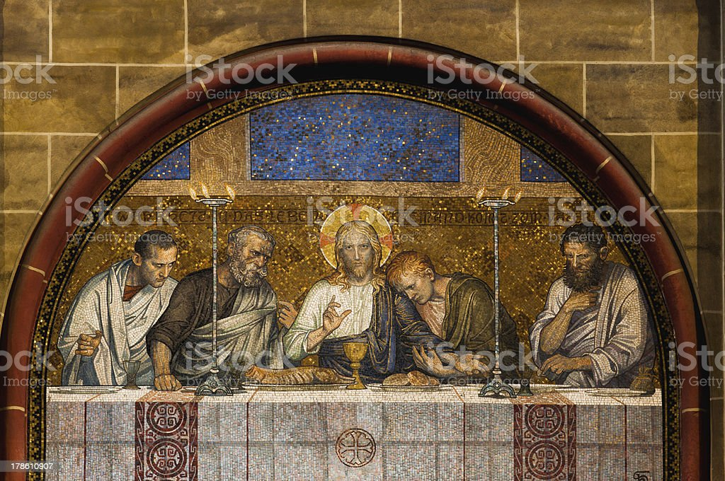 Last Supper of Christ stock photo