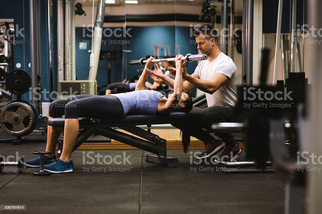 Last two repetitions! stock photo