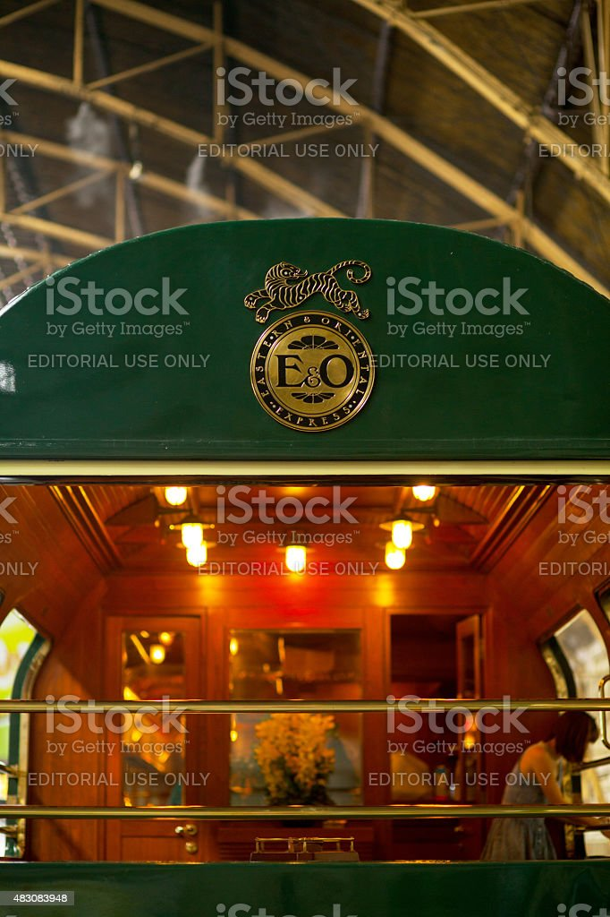 Last waggon of Eastern Oriental Express stock photo