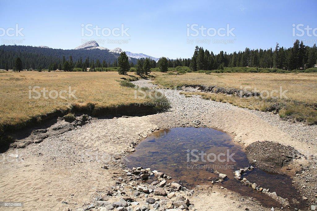 Last Water - Dry Creek stock photo