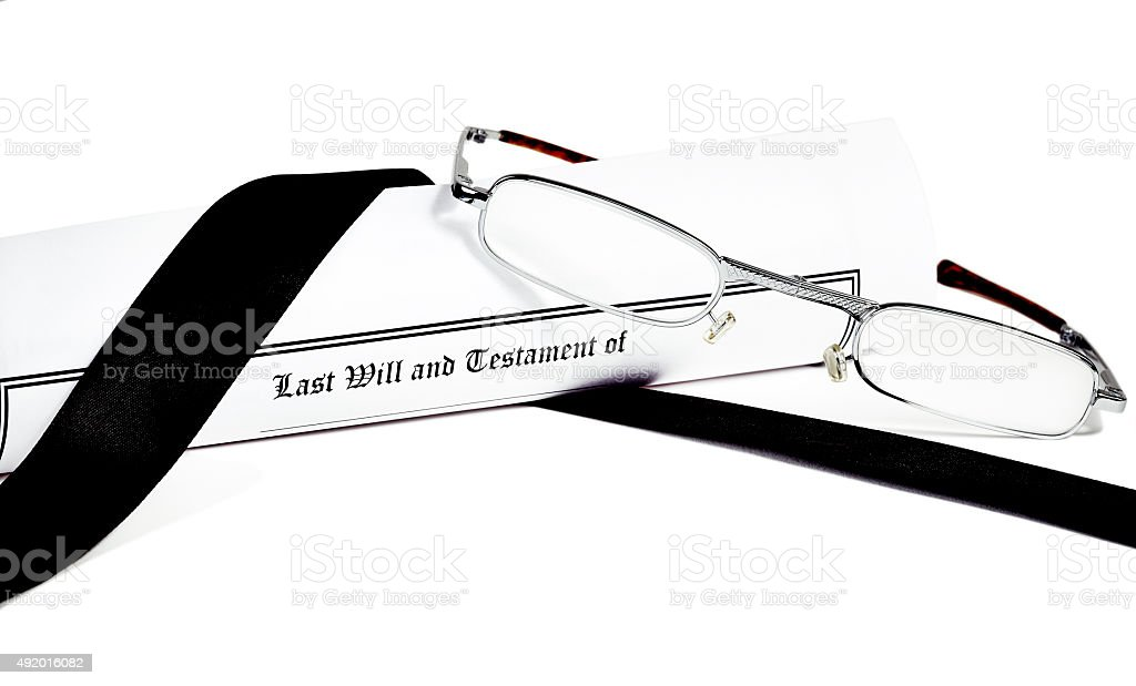 Last Will and Health Care Directive with Pen stock photo