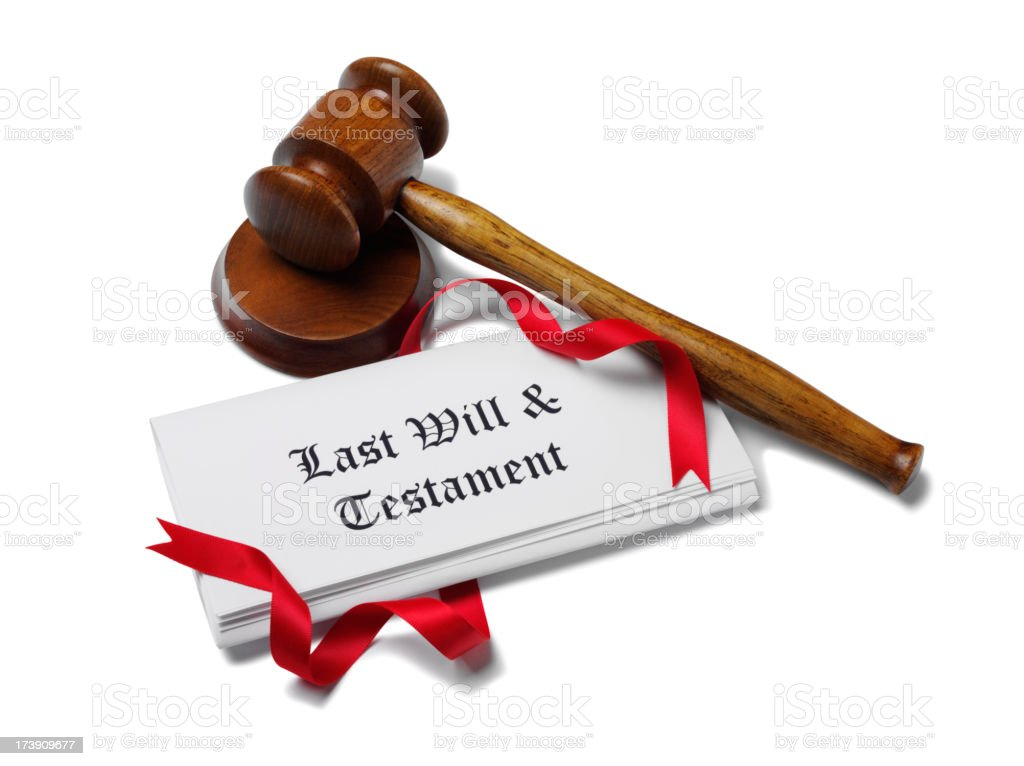 Last Will and Testament Document royalty-free stock photo