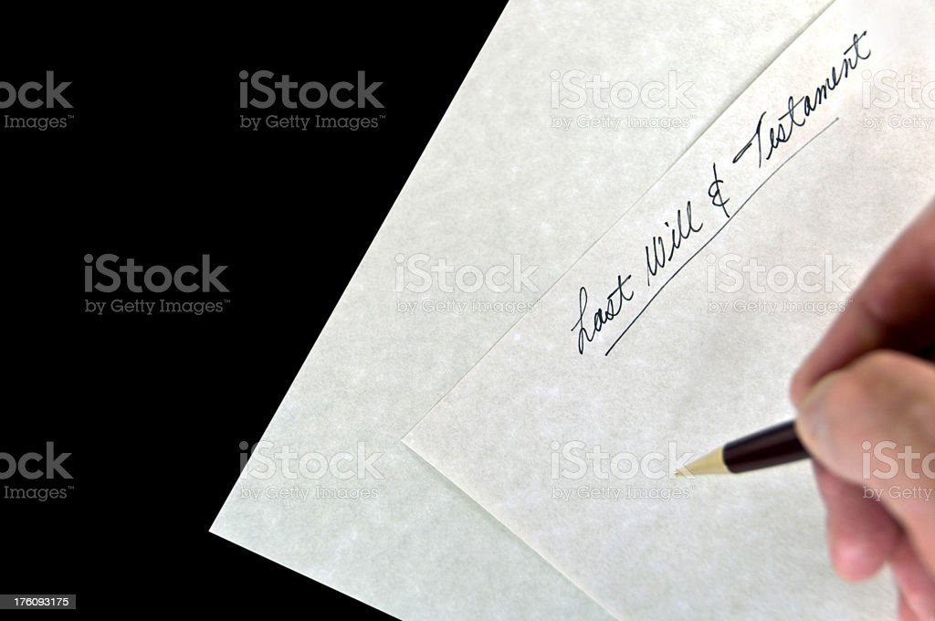 'Last Will and Testament' stock photo