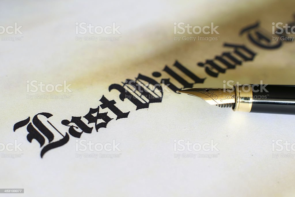 Last will and testament royalty-free stock photo