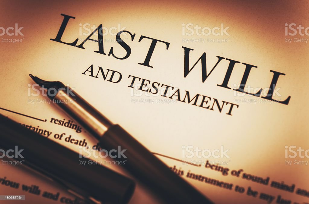 Last Will and Testament stock photo