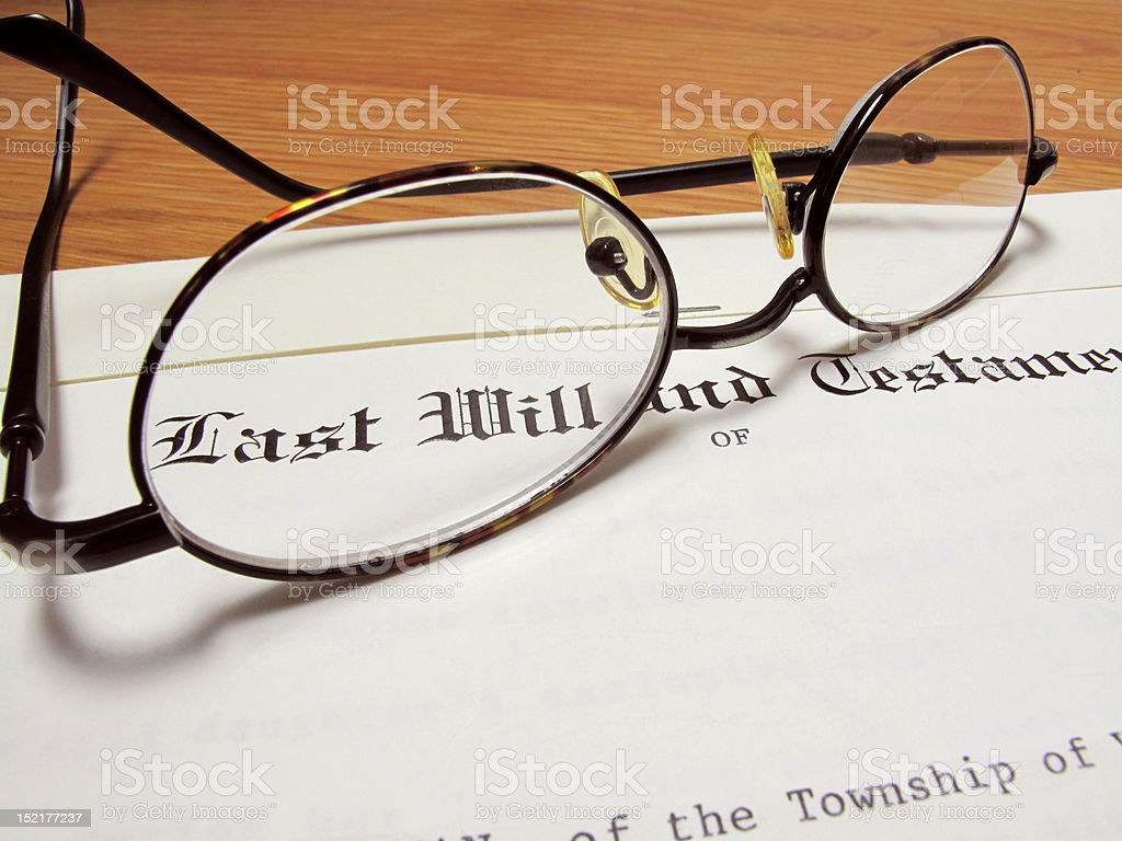 Last Will stock photo