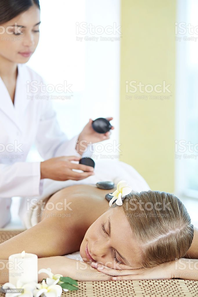 Lastone massage royalty-free stock photo