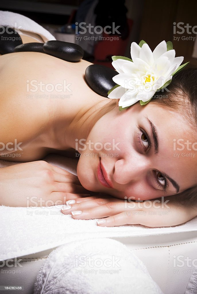 Lastone therapy in spa royalty-free stock photo