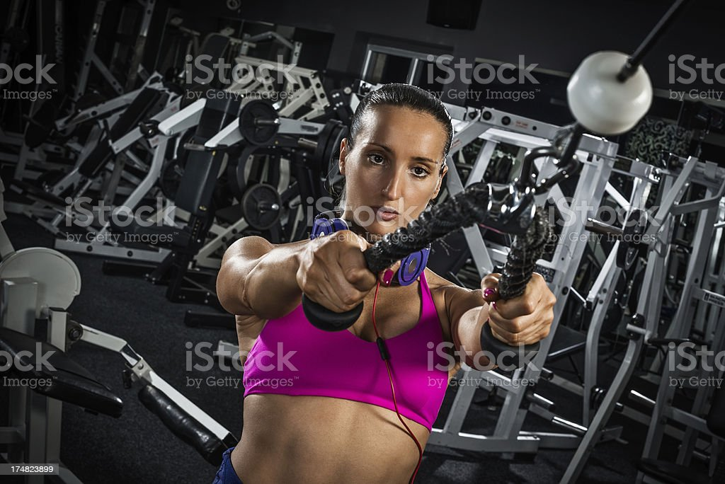 Lat pulldown royalty-free stock photo