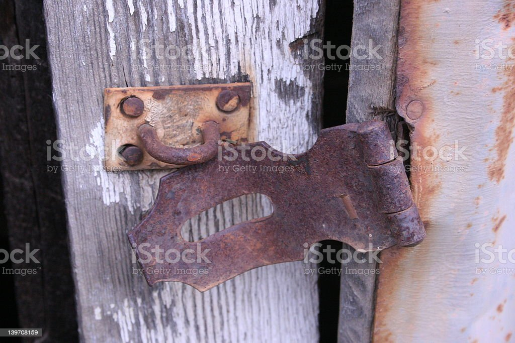 Latch on Door royalty-free stock photo