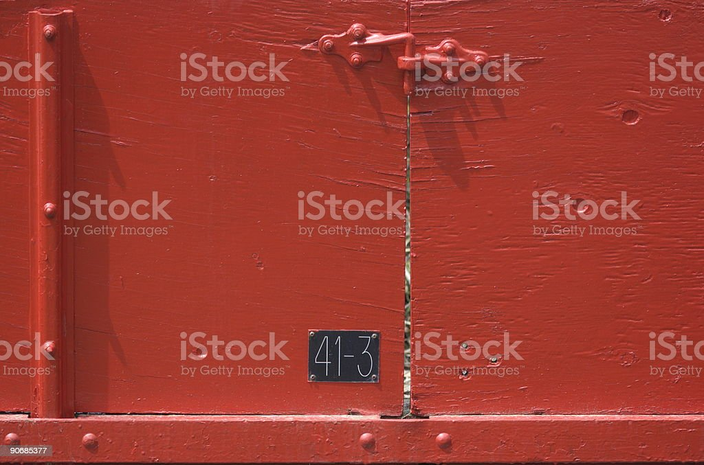 latch on red doors royalty-free stock photo