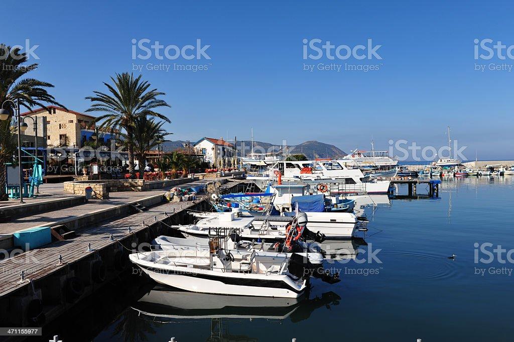 Latchi Harbour, Cyprus stock photo