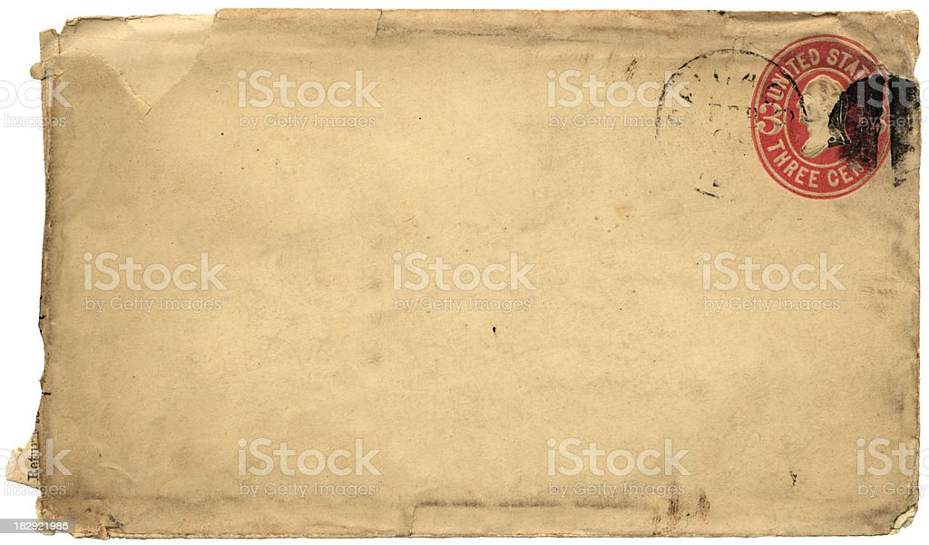 Late 19th century envelope from Chicago stock photo