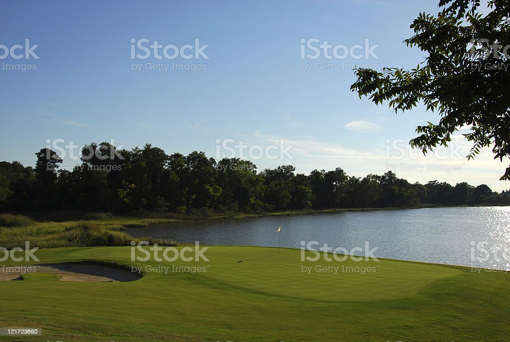 Late Afternoon 18th Hole royalty-free stock photo