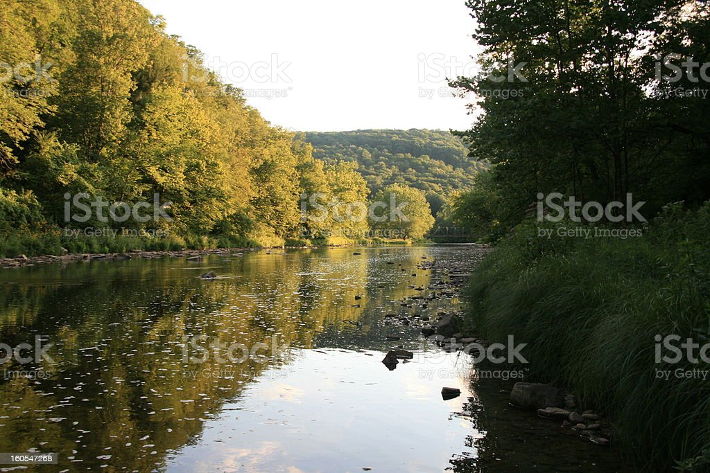 Late Afternoon Along Oil Creek royalty-free stock photo